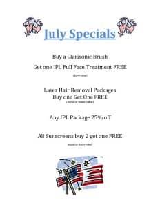 July Specials 2015