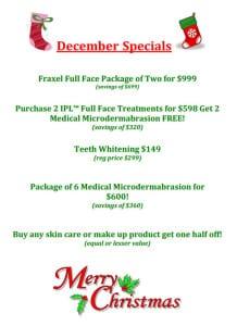 Summit Skin and Vein December Specials