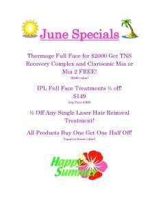 Summit Skin Care Specials June 2015