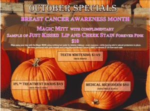 October Skin Care Specials