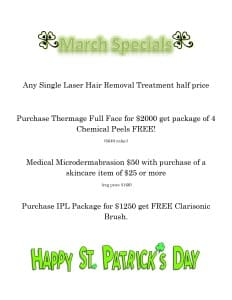 March Skin Care specials