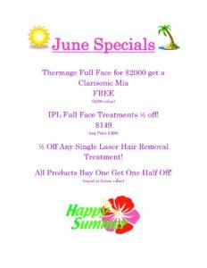 June Skin Care Specials 2016