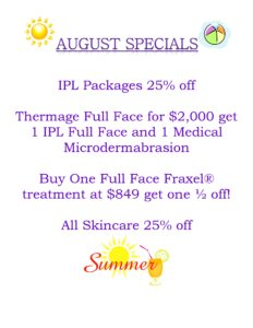 August Skin and Vein Care Specials 2016