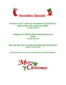 December Skin Care Special 2016