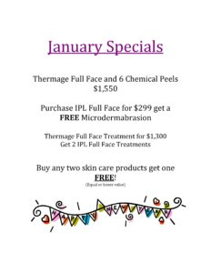 January Skin Care Specials 2017